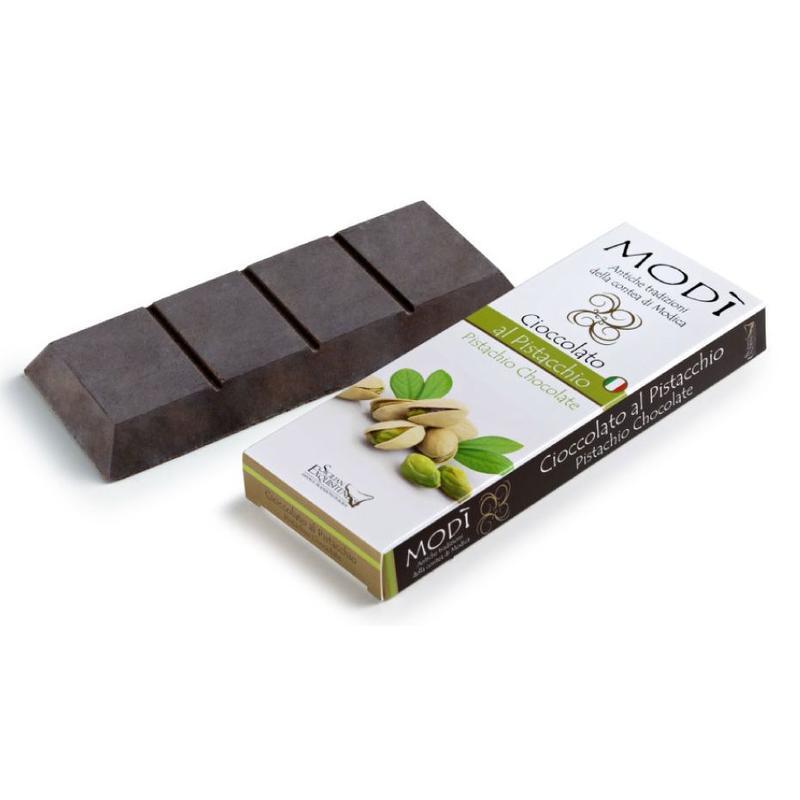 Chocolade uit Modica bereid met Bronte pistache
