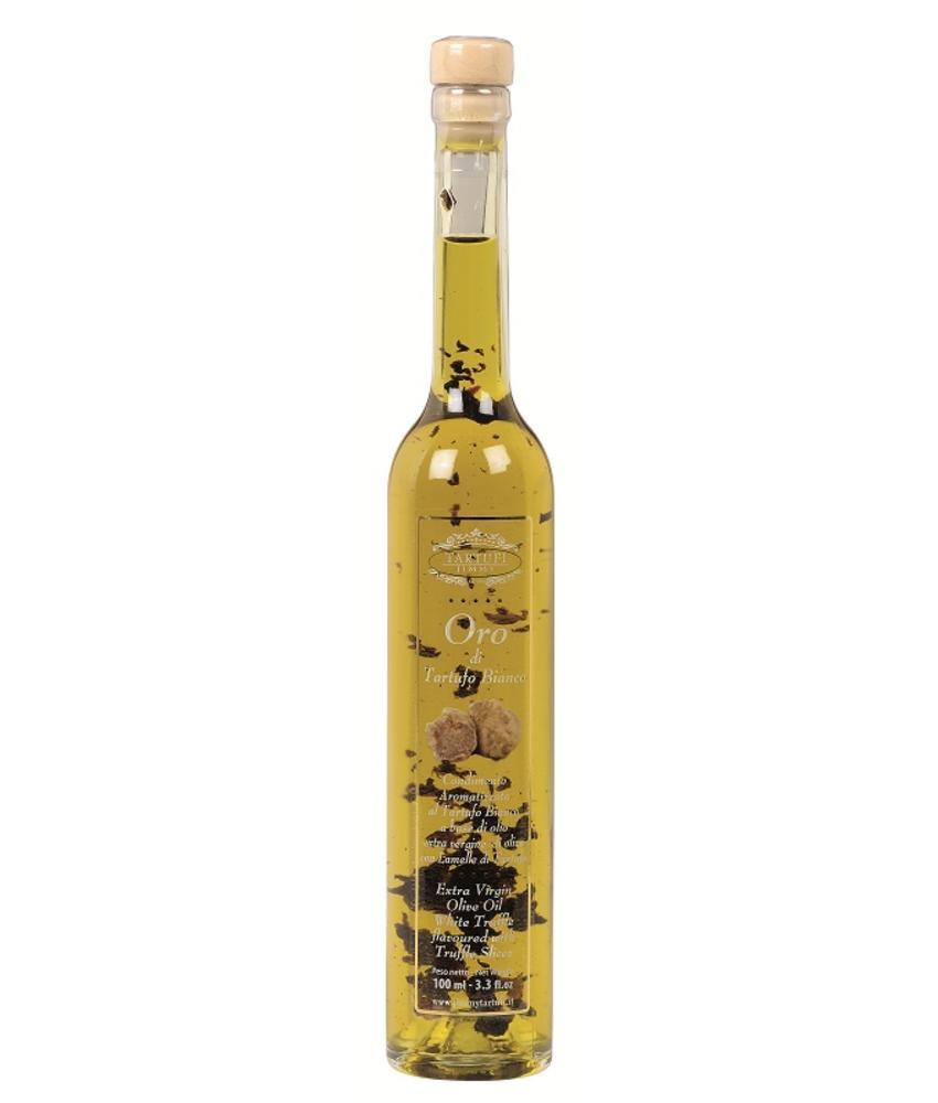 Olijfolie extra vergine met stukjes witte truffel