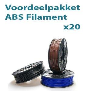 Filament-shop Voordeelpakket ABS 20x