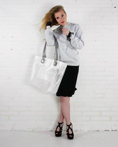 HO! MULDER Shopper Grijs Mesh / Transparant