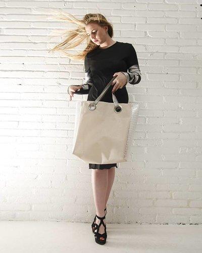 HO! MULDER Shopper Beige / Transparant