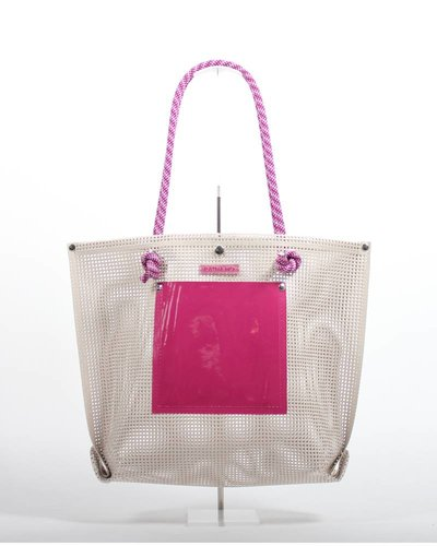 RATNA HO Limited Edition Welded Shopper Jaimy #3 (Beige / Roze)