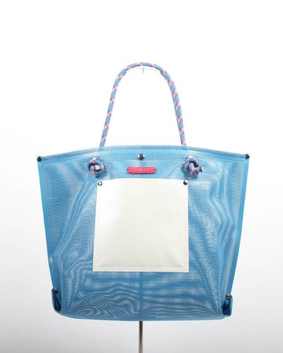 RATNA HO Limited Edition Welded Shopper Jaimy #9 (Blauw / Wit)