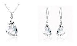 925 Zilveren Hanger en oorbellen