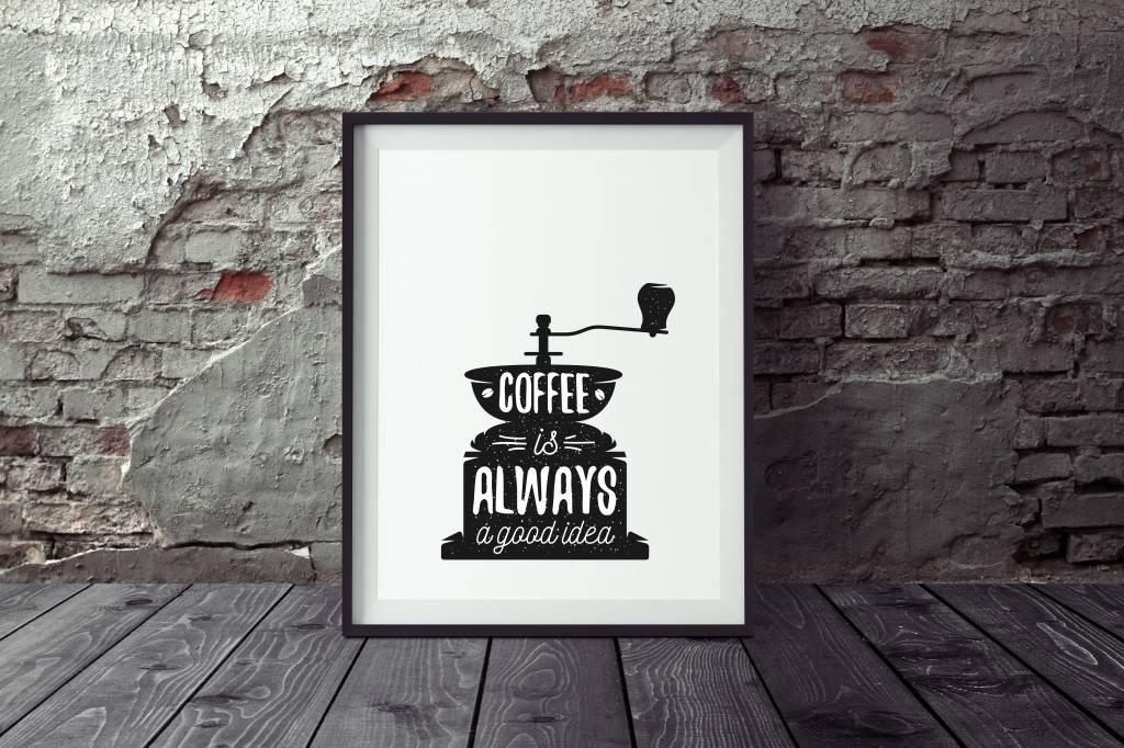 Poster Kaffee Vintage, Poster Küche, Wandbild Küche, Wandbild Kaffee ...