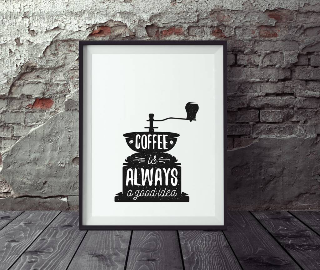 poster kaffee vintage poster k che wandbild k che wandbild kaffee. Black Bedroom Furniture Sets. Home Design Ideas