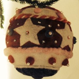 Droogvilt kerstbal