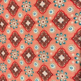 OakiDoki Katoenlapje - bloem rose turkoois