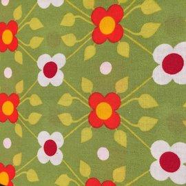 OakiDoki Katoenlapje - bloem groen rood wit