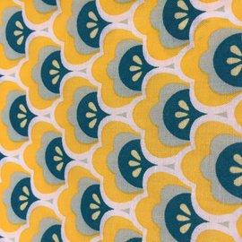 OakiDoki Katoenlapje - bloem groen geel