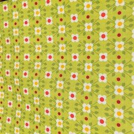 OakiDoki Katoenlapje - kleine bloem grasgroen