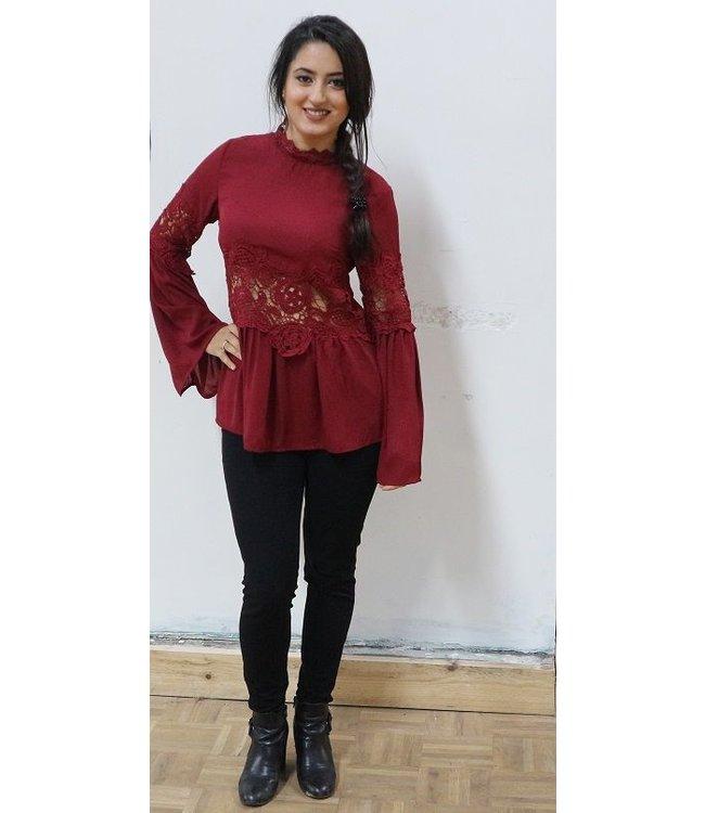 Happy bordeaux rode blouse