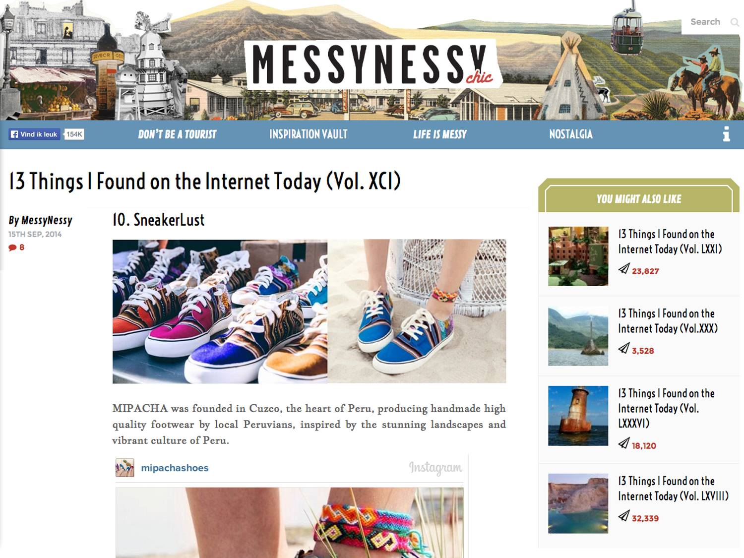 Featured on Messy Nessy Chic (13 Things I Found on the Internet Today )