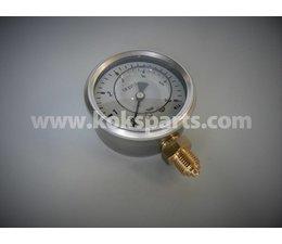"""KO100037 - Manometer. Lesereichweite: 0/6 bar. Anschluss: 1/4"""" unterer Anschluss."""