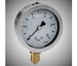 """KO100038 - Manometer. Lesereichweite: -1/0 bar. Anschluss: 1/4"""" unterer Anschluss."""