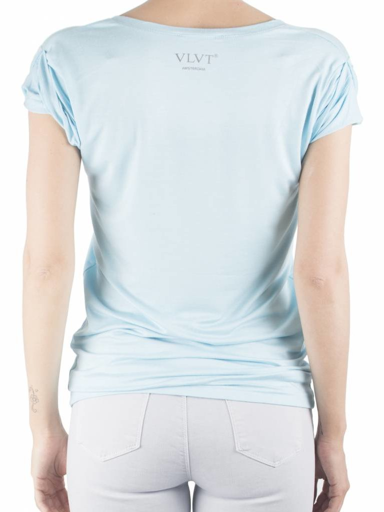 VLVT La vie est belle T-Shirt hellblau
