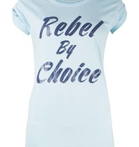 VLVT Rebel by choice T-Shirt hellblau