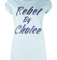 VLVT Rebel by choice t-shirt lichtblauw