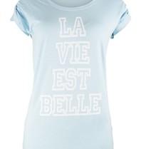 VLVT La vie est belle tee light blue