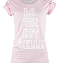 VLVT La vie est belle tee pink