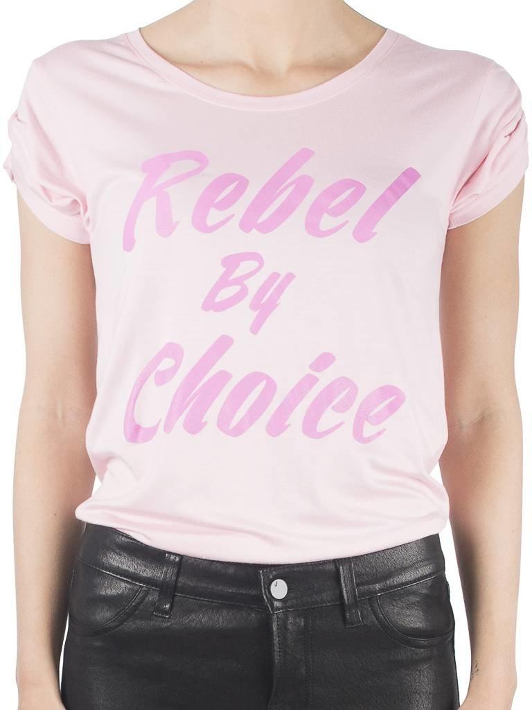 VLVT Rebel by choice T-Shirt rosa