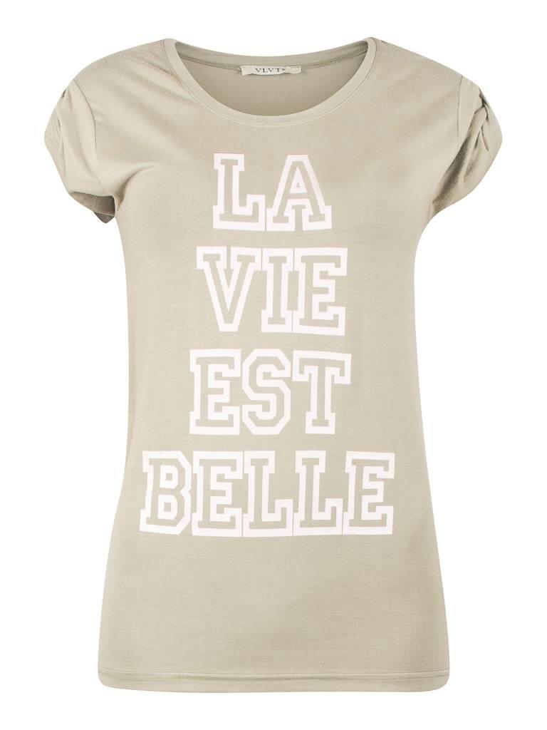 VLVT La vie est belle T-Shirt grün