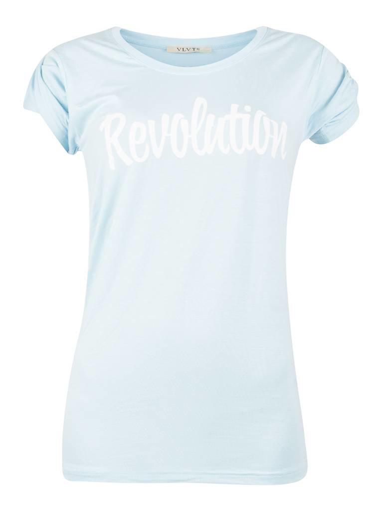 VLVT Revolution T-Shirt hellblau