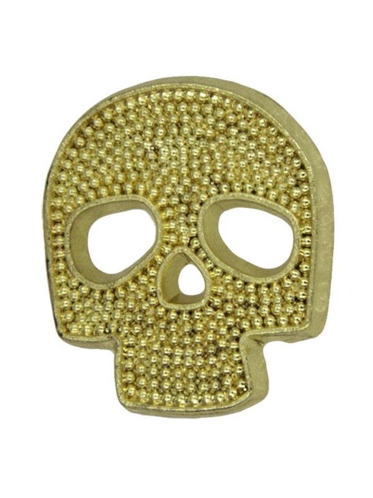 Godert.me Mini skull pin goud