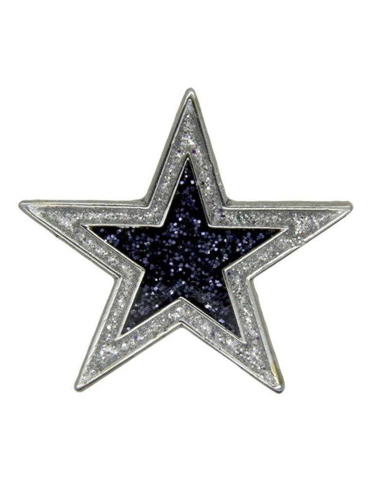 Godert.me Star Pin Silberglitter