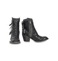 Mexicana Mamacita embroidered boots black