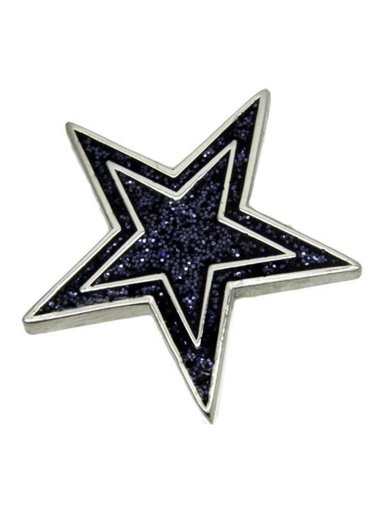 Godert.me Star glitter Pin blau