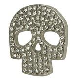 Godert.me Skull rhinestones Pin silber