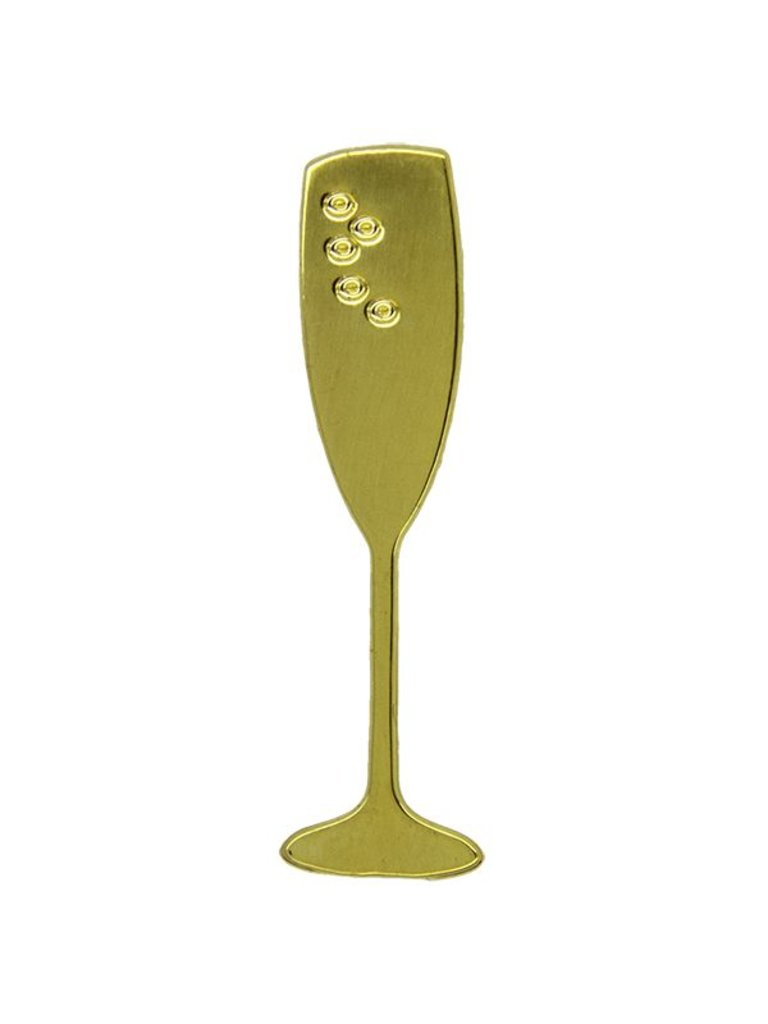 Godert.me Champagne glass gold Pin