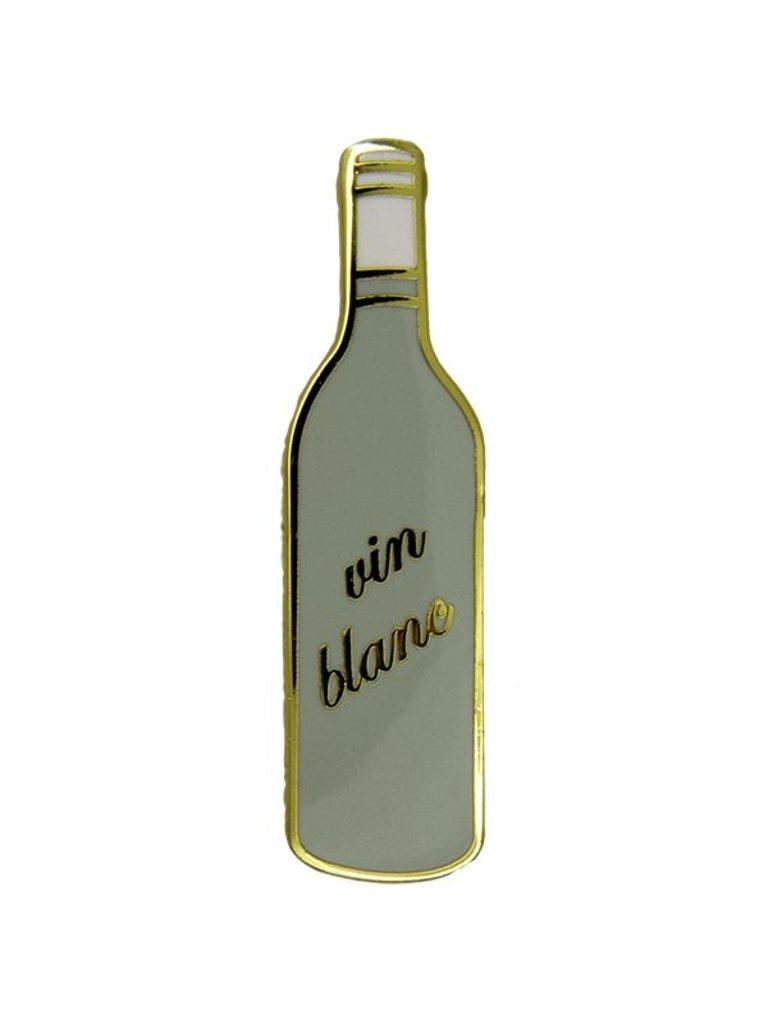 Godert.me Bottle white wine gold Pin