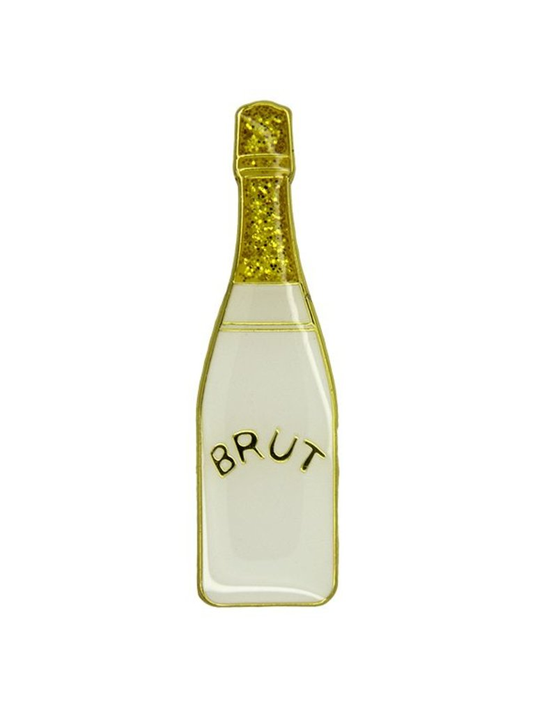 Godert.me Champagne bottle Pin weiß gold