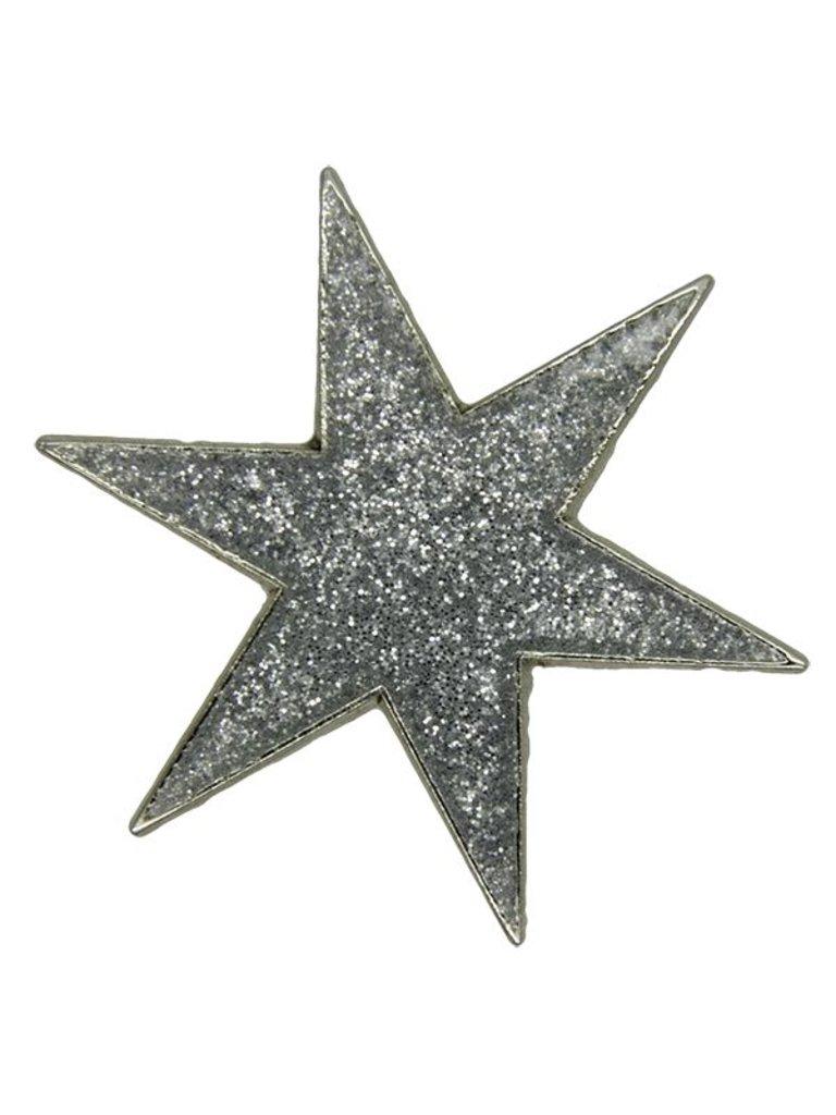 Godert.me Star Pin glitzern silber