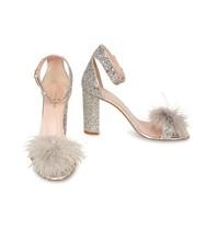 Kate Spade Ilona sandals silver glitter