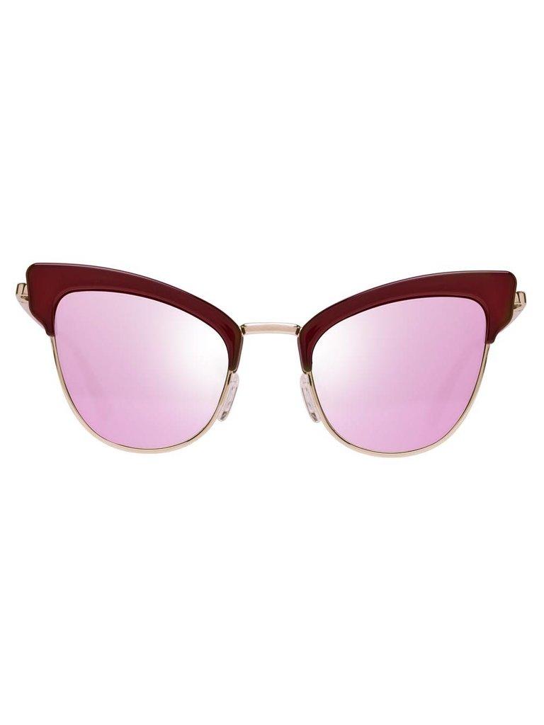 Le Specs Luxe Ashanti zonnebril garnet rose