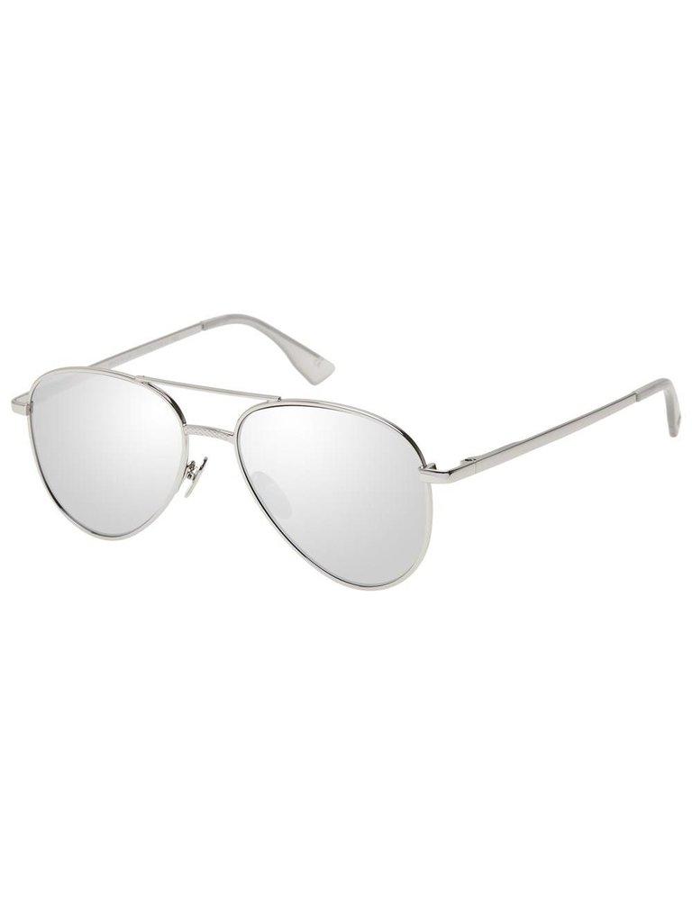 Le Specs Luxe Imperium zonnebril platinum zilver