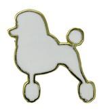 Godert.me Parisian Poodle Pin Weiß gold