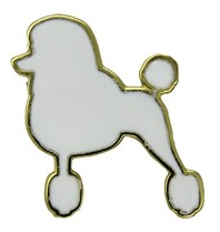 Godert.me Parisian Poodle pin white gold