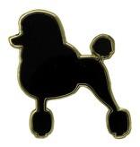 Godert.me Parisian Poodle Pin schwarz gold