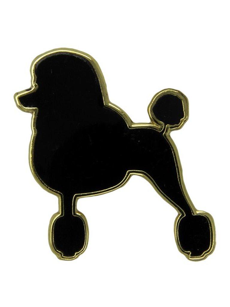 Godert.me Parisian Poodle pin zwart goud
