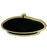 Godert.me Parisian beret cap pin zwart goud