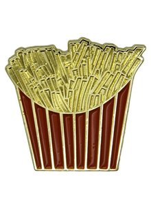 Godert.me French fries pin rood goud