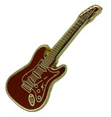 Godert.me Guitar pin red gold