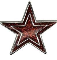 Godert.me Star Pin rot silber