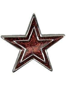Godert.me Star pin rood zilver