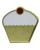 Godert.me Cupcake Pin Weiß Gold