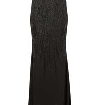 Elisabetta Franchi Maxi skirt with sequins black